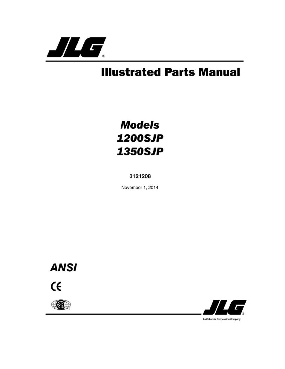 JLG 1350SJP Parts Manual User Manual 454 pages – Jlg Model 42 Wiring Diagram
