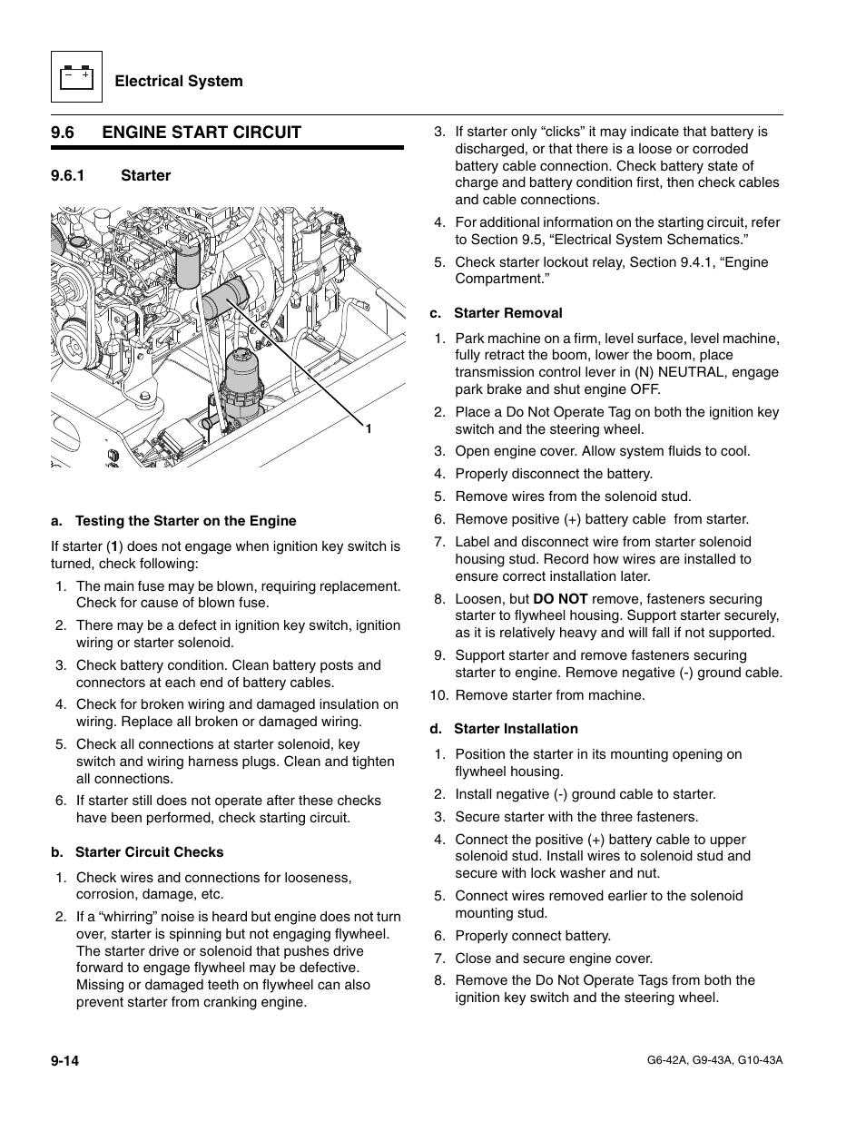 6 engine start circuit 1 starter engine start circuit jlg g6 42a rh manualsdir com