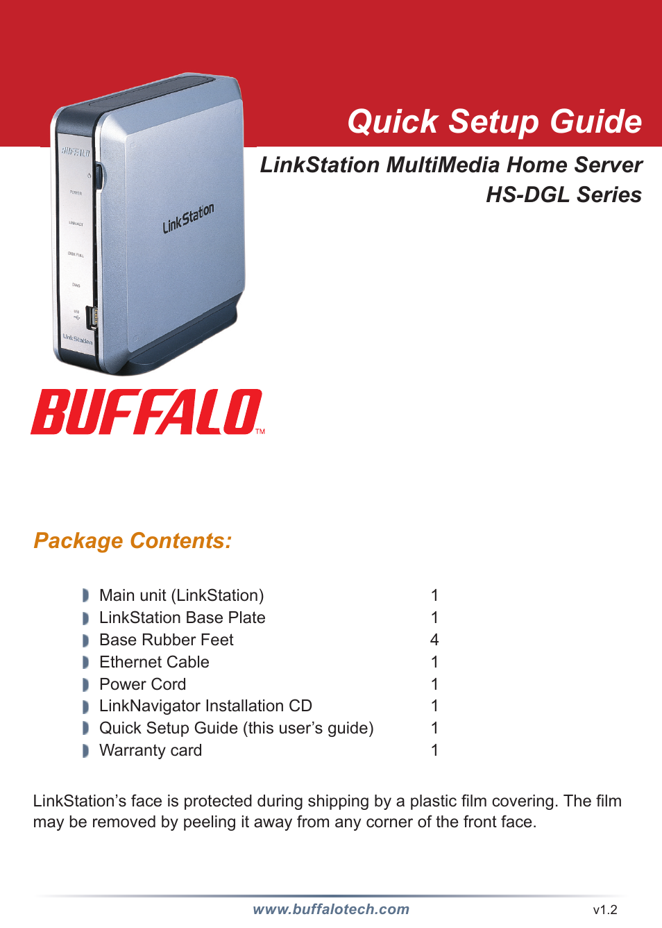 Buffalo Technology LINKSTATION HS-DGL User Manual | 9 pages