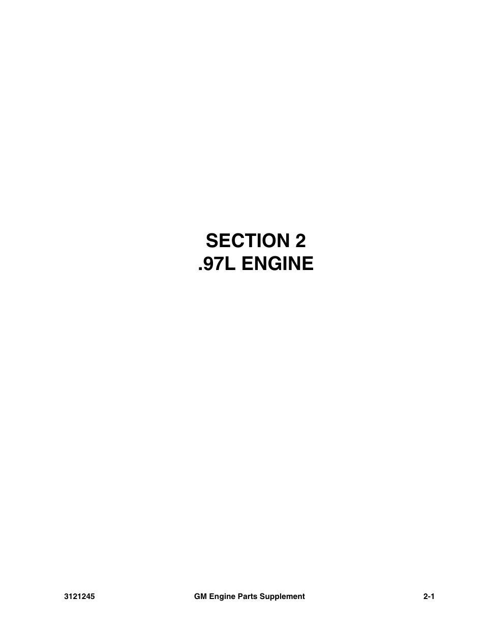Section 2 97l Engine L 1 Jlg Gm Parts Diagram Supplements User Manual Page 9 100