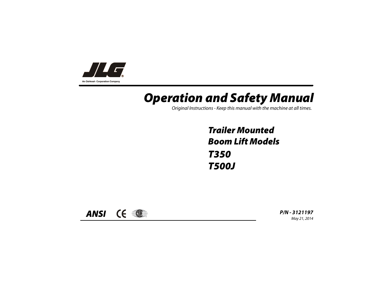 Jlg T500j Operator Manual User 132 Pages Also For T350 Charger Scissor Lift Wiring Diagram
