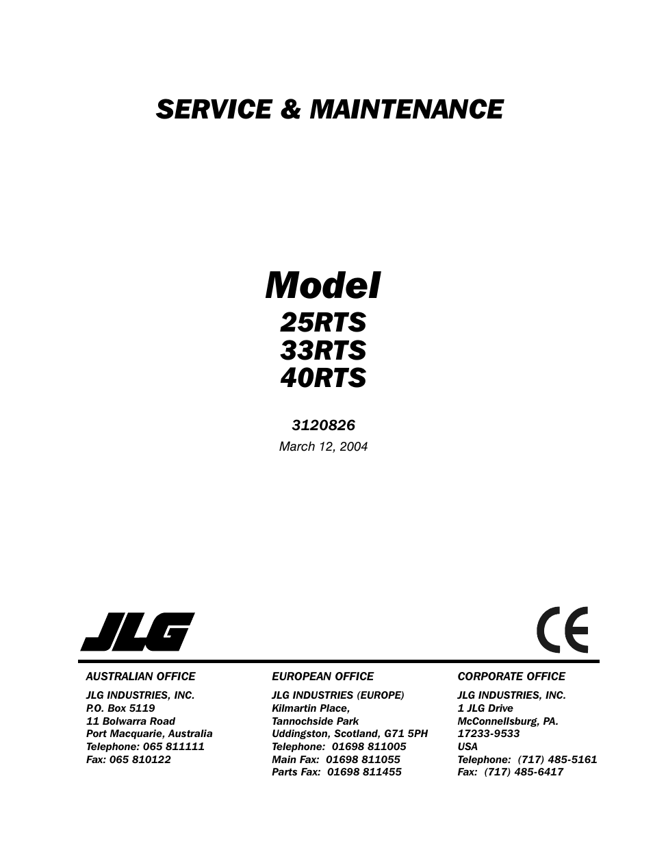 jlg rts service manual user manual pages also for rts jlg 40rts service manual user manual 84 pages also for 33rts service manual 25rts service manual