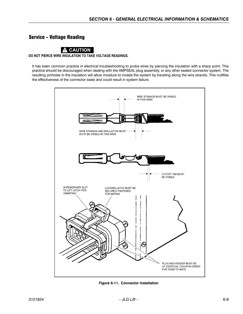 Jlg 3369le Wiring Diagram Schemes Service Voltage Reading Connector Installation 9 M4069 Altec