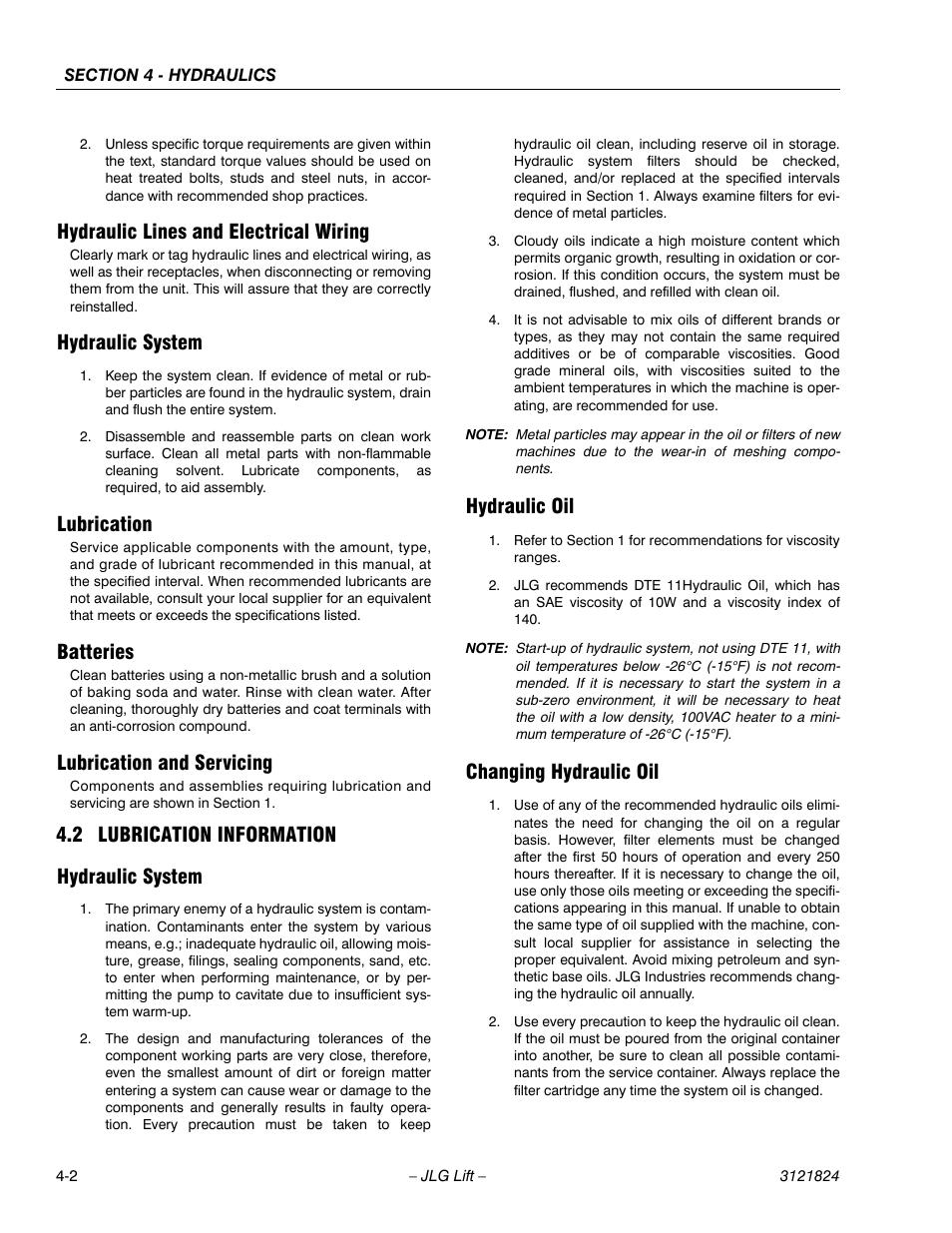 hydraulic lines and electrical wiring hydraulic system lubrication rh manualsdir com Commercial Wiring Standards Instrumentation Wiring Standards