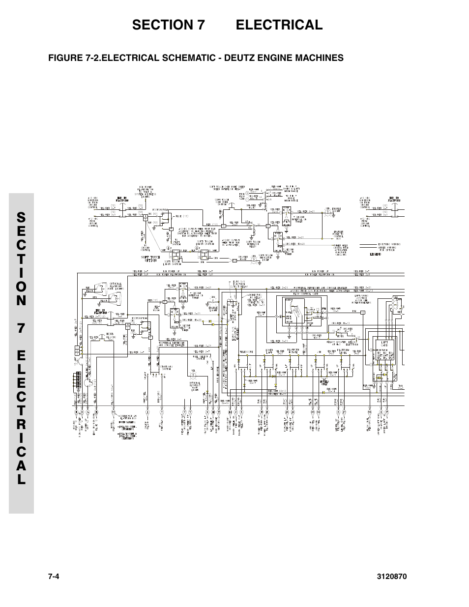 Electrical Schematic Deutz Engine Machines 4 Jlg 450aj Parts Diagram Manual User Page 190 212