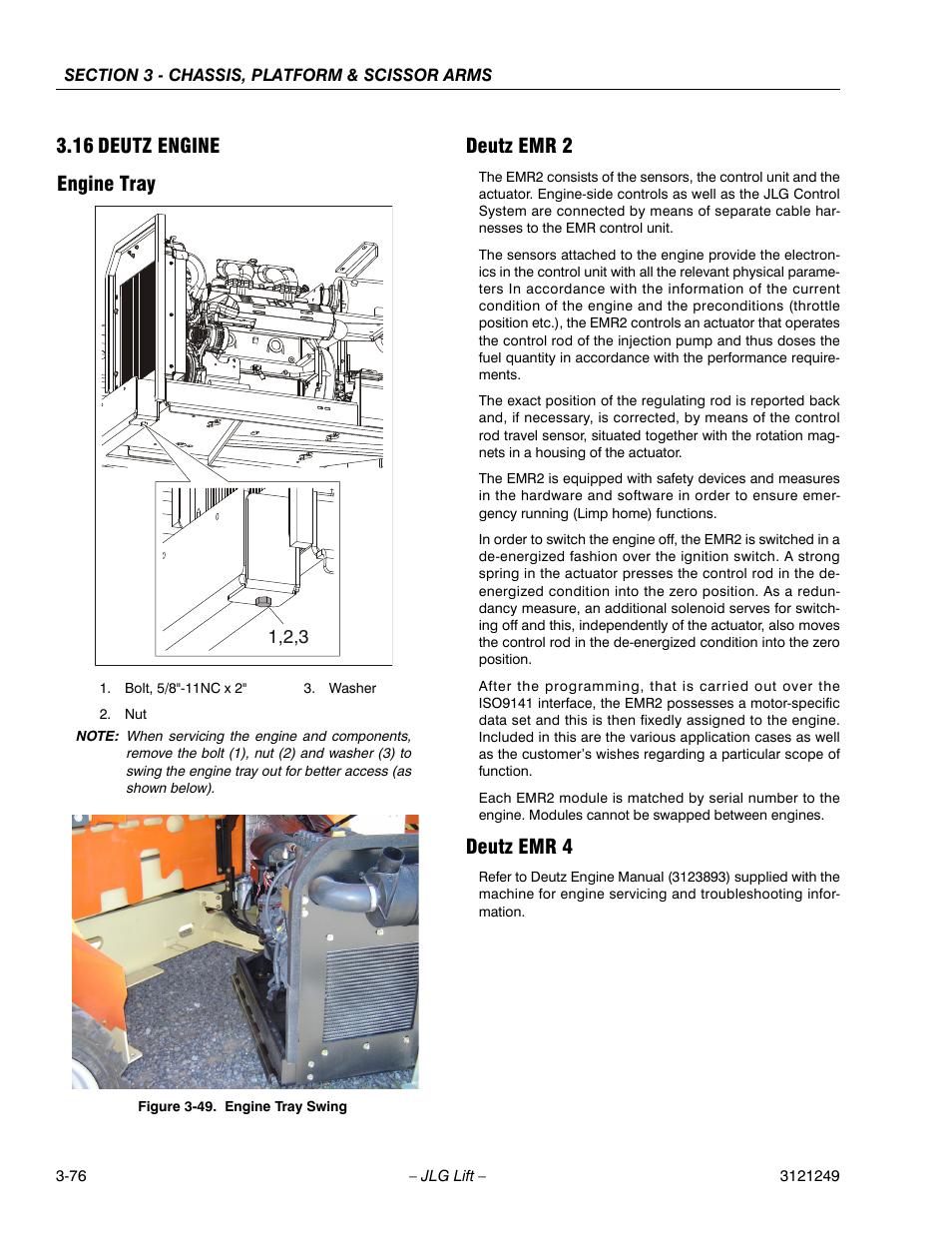 16 deutz engine engine tray deutz emr 2 jlg 4394rt service rh manualsdir com Deutz Tractors Deutz Diesel Engine Service Manuals