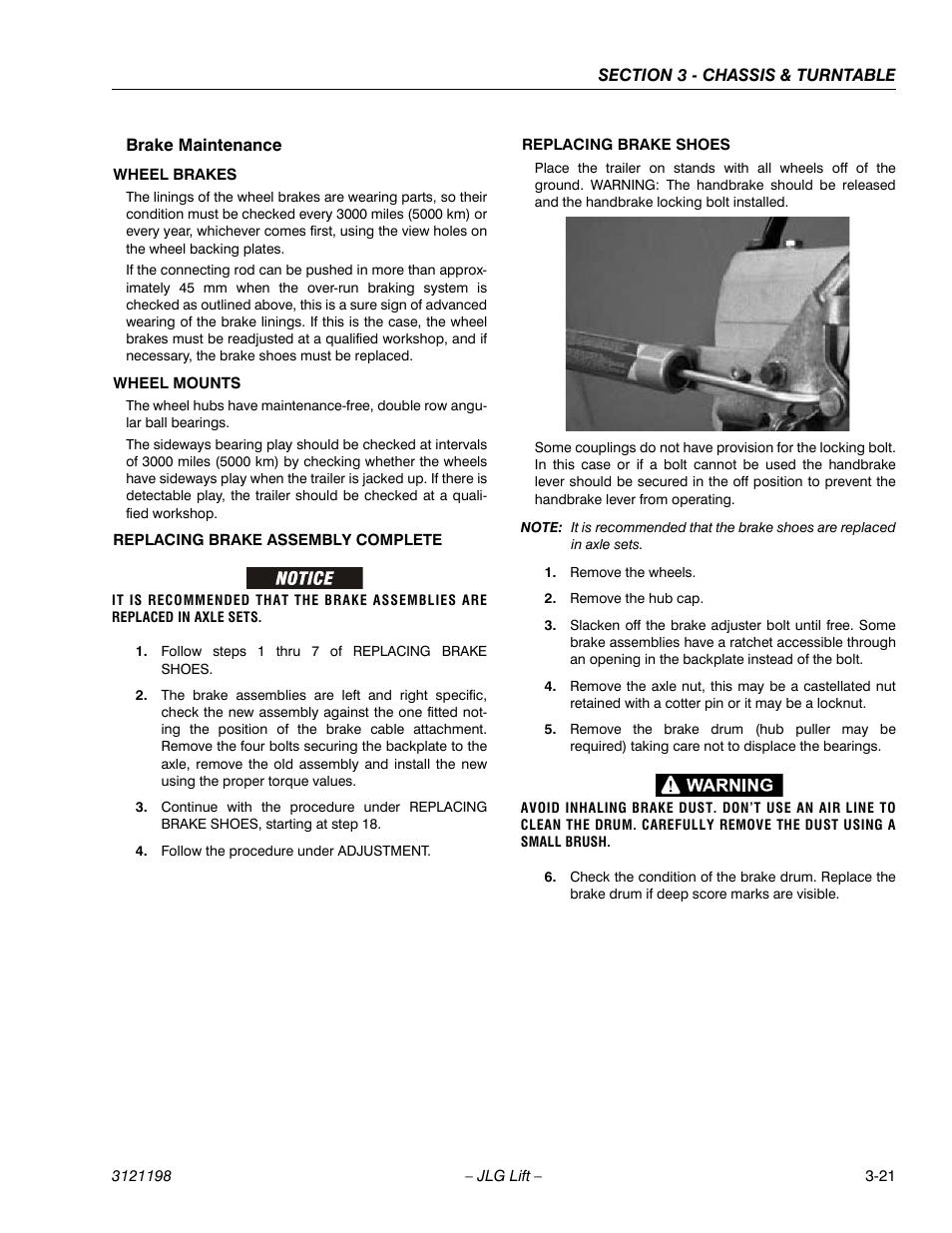 Brake Maintenance  Brake Maintenance