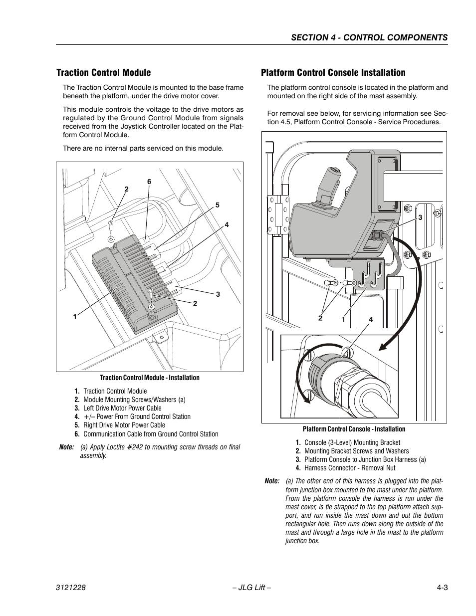 Traction control module platform control console installation jlg traction control module platform control console installation jlg 10msp service manual user manual publicscrutiny Choice Image