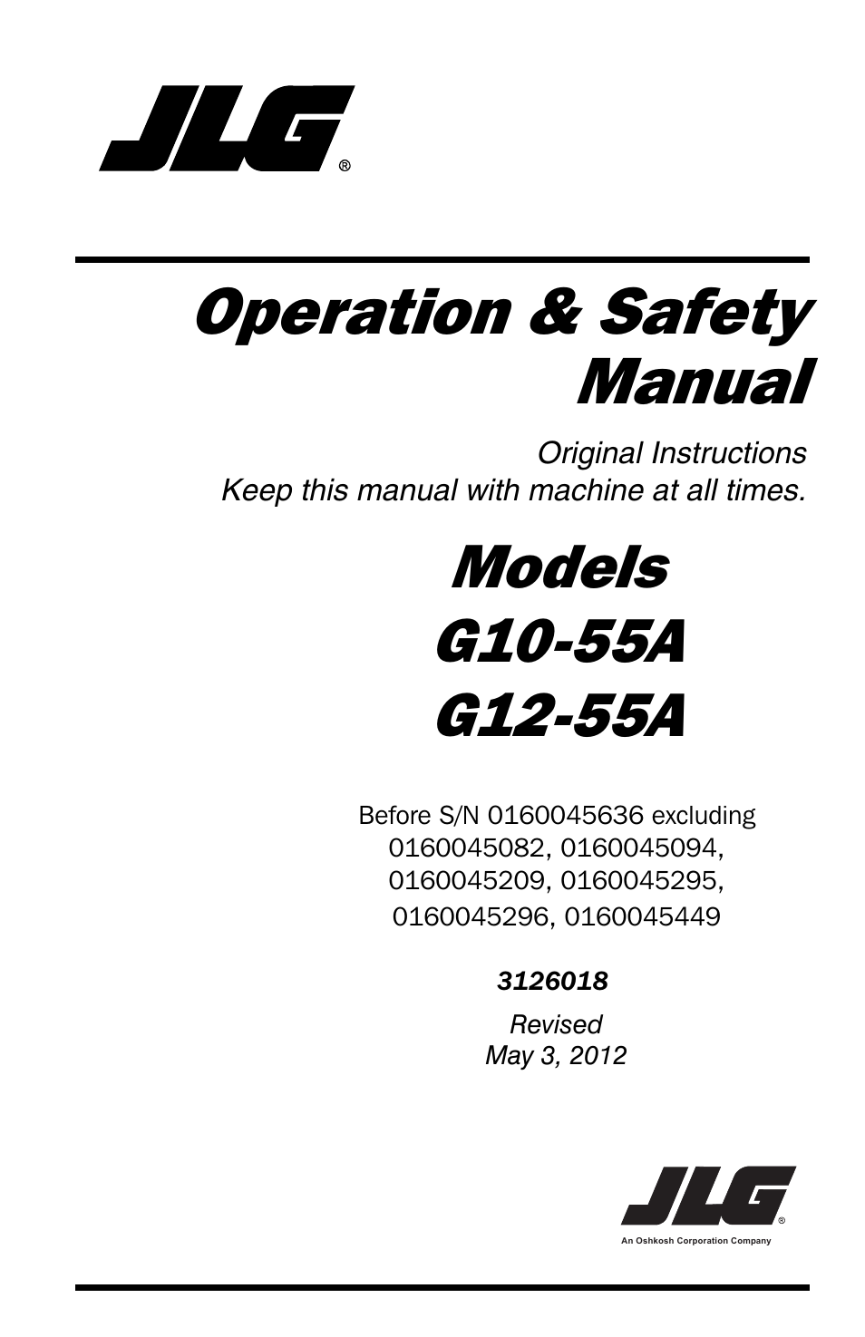 Jlg Wiring Schematics Schematic G12 55a Trusted Diagrams Operator Manual User 164 Pages Also For G10 Rh Manualsdir Com
