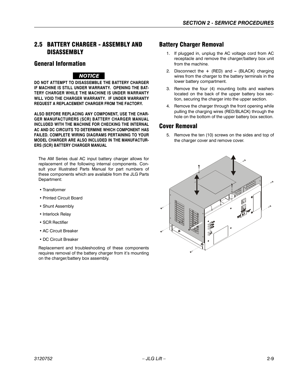 Jlg Battery Charger Wiring Schematic Electrical Diagrams Diagram 5 Assembly And Disassembly General Information Marine Switch