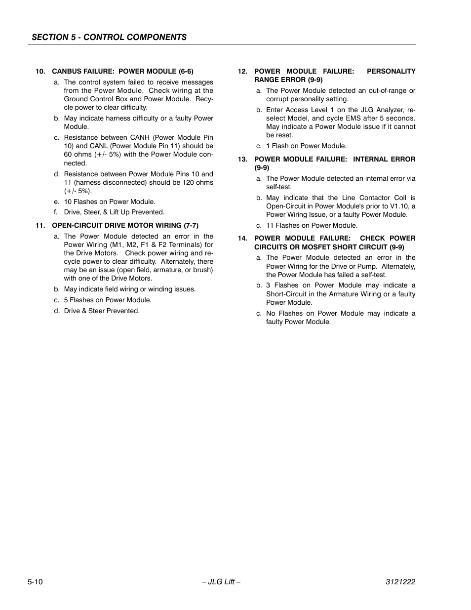 Jlg 1230es Service Manual User Page 86 198 Faulty Electrical Wiring