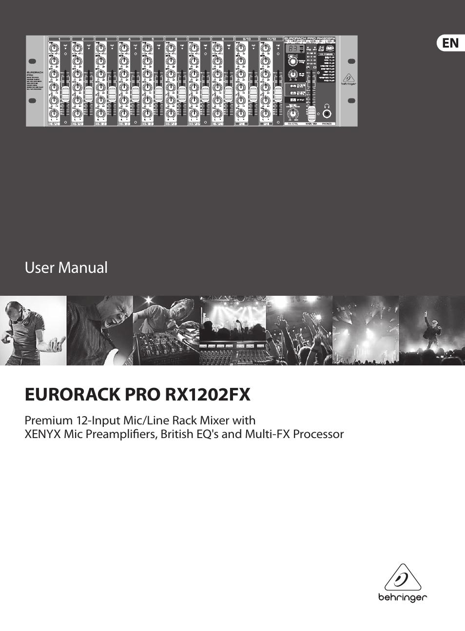 behringer eurorack pro rx1202fx user manual 16 pages rh manualsdir com Behringer Rack Mixer Behringer DJ Mixer