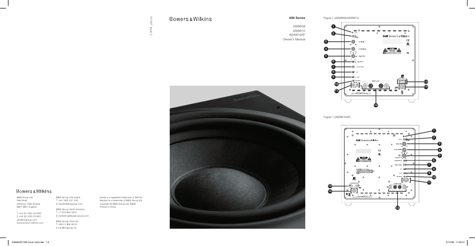 bowers wilkins asw610 user manual 104 pages also for asw608 asw610xp. Black Bedroom Furniture Sets. Home Design Ideas