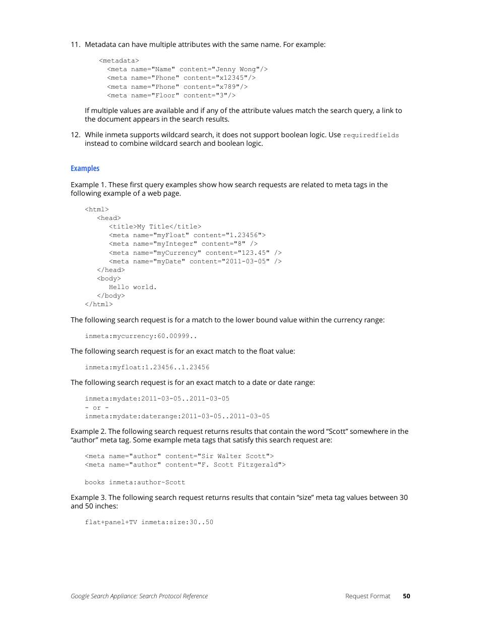Google Search Appliance Protocol Reference User Manual | Page 50 / 116