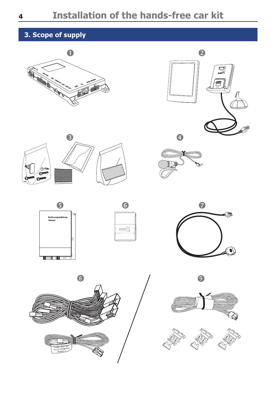 Bury cc 9060 music hands-free car kit with apple ipod / iphone.