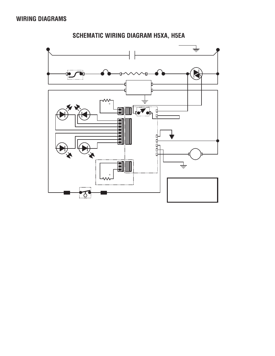 230 volts a c 2 wire single phase, Schematic wiring diagram h5xa, h5ea, Wiring  diagrams | Bunn H5X User Manual | Page 22 / 22