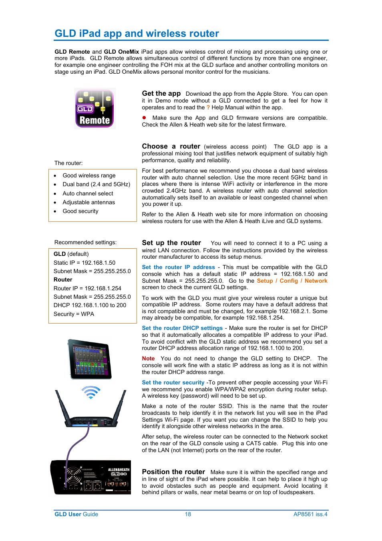 Array - gld ipad app and wireless router   allen u0026heath gld 80 user      rh   manualsdir com