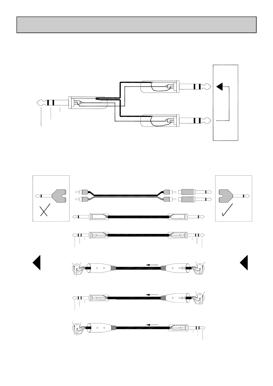 [GJFJ_338]  Insert cable wiring, General wiring information, Y-adapter no | Allen&Heath  XB-14-2 User Manual | Page 34 / 37 | Original mode | Insert Cable Wiring Diagram |  | Manuals Directory