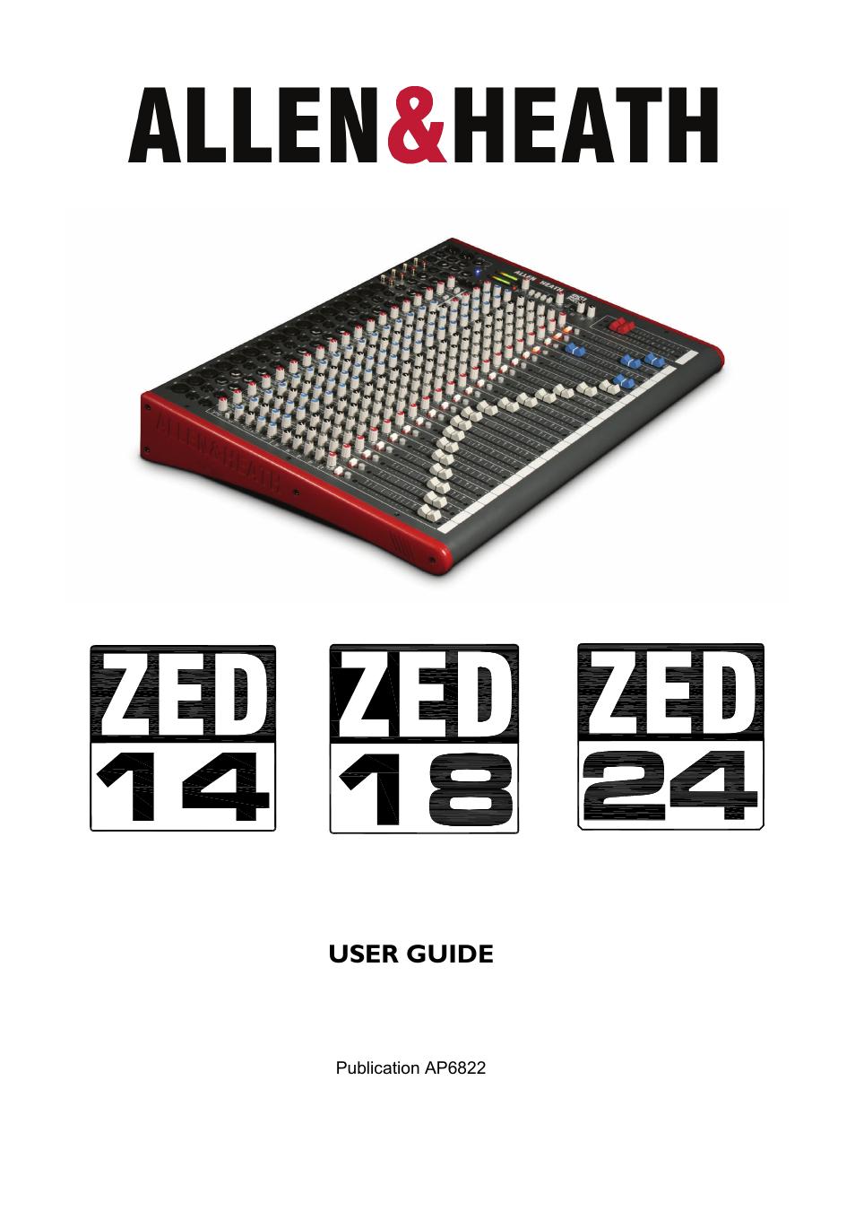allen and heath qu 32 user manual