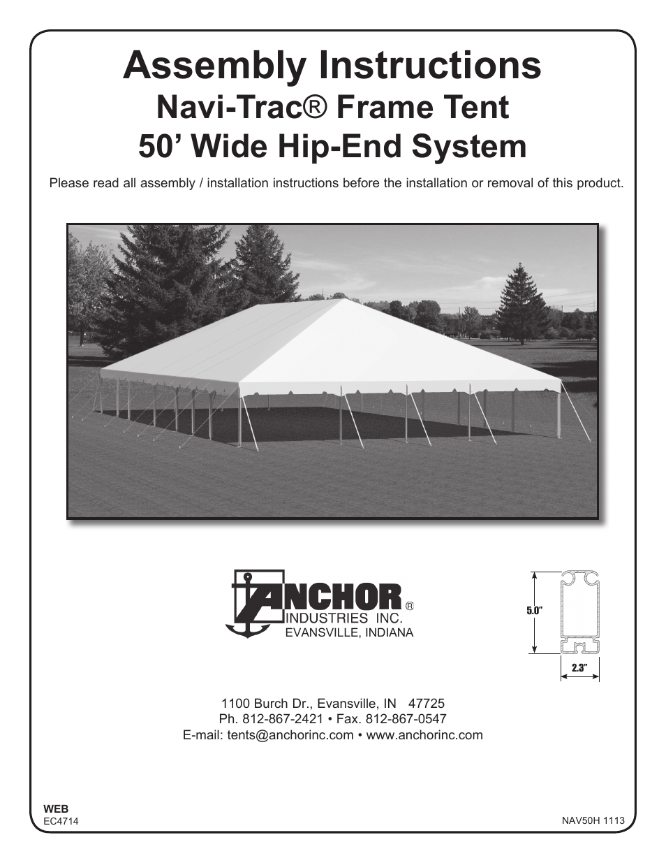 sc 1 st  manualsdir.com & Anchor NAVI-TRAC 50 WIDE HIP-END User Manual | 21 pages