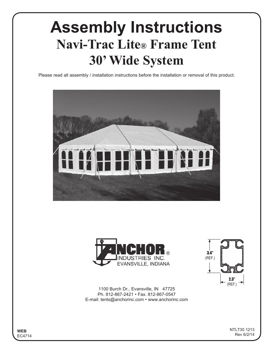 sc 1 st  manualsdir.com & Anchor NAVI-TRAC LITE 30 WIDE User Manual | 20 pages