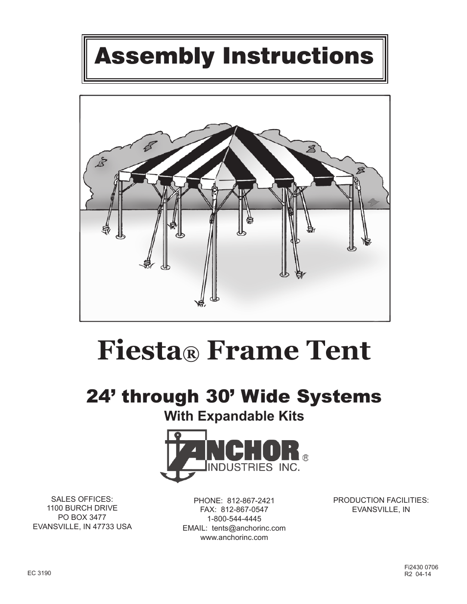 sc 1 st  manualsdir.com & Anchor FIESTA FRAME TENT 24-30 User Manual | 8 pages