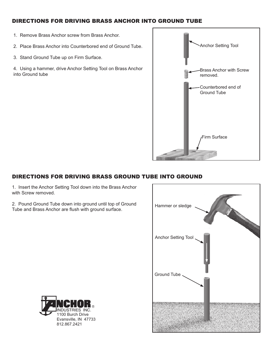 Anchor MESH POOL COVER GROUND TUBES AND STAKES User Manual | Page 2 / 2