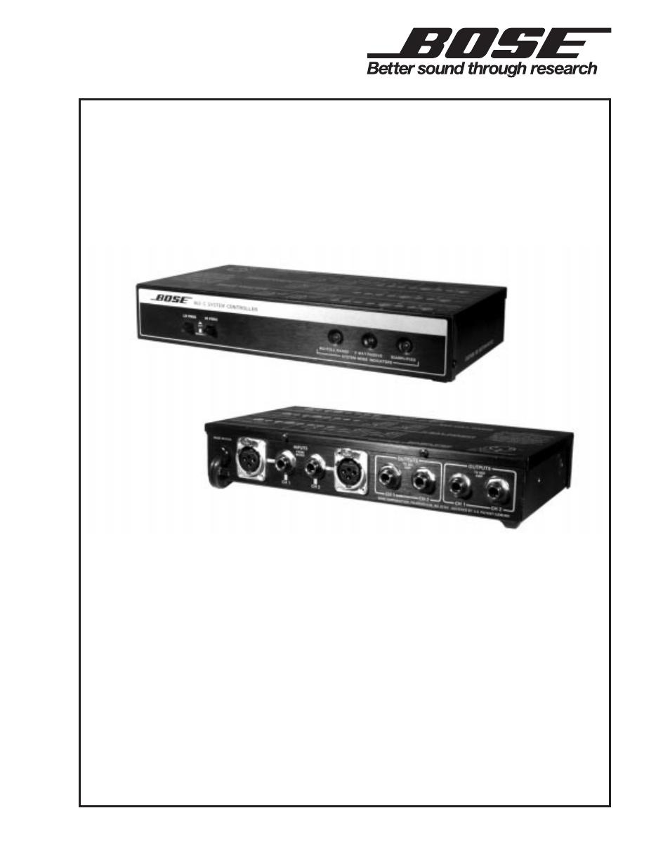 bose 802c user manual 20 pages rh manualsdir com bose 802c-ii system controller user manual bose 802c system controller manual