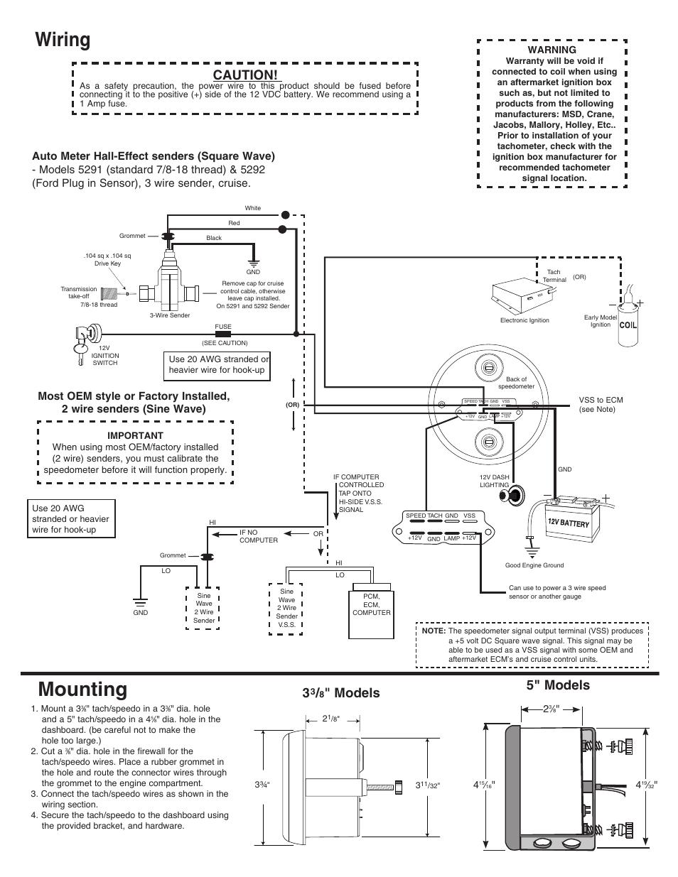 Mounting  Wiring  Models