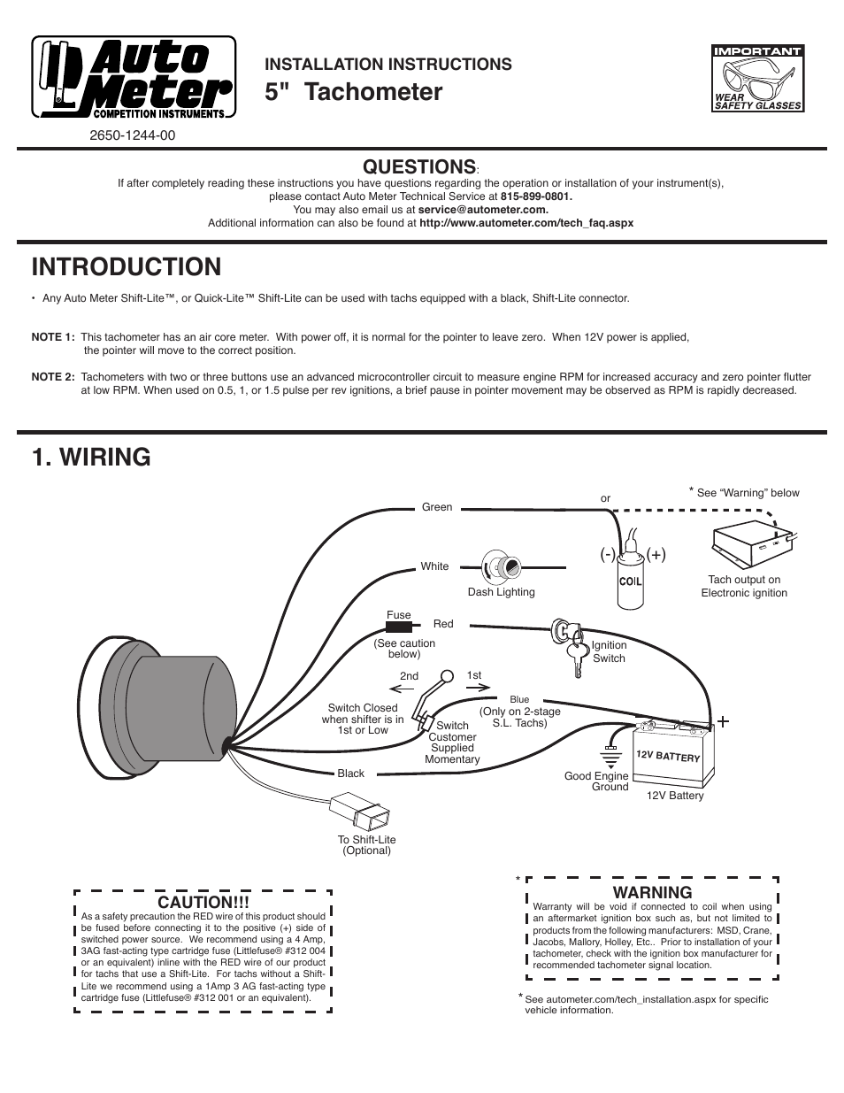 Auto Meter 4999 User Manual