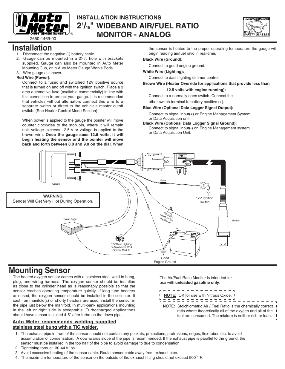 Auto Meter 7570 User Manual | 2 pages | Also for: 3870, 8070, 5970 on water meter installation diagram, auto meter switch, auto meter ford, auto meter toyota, auto ammeter wiring, pro comp light installation diagram, auto meter installation, auto meter clock,