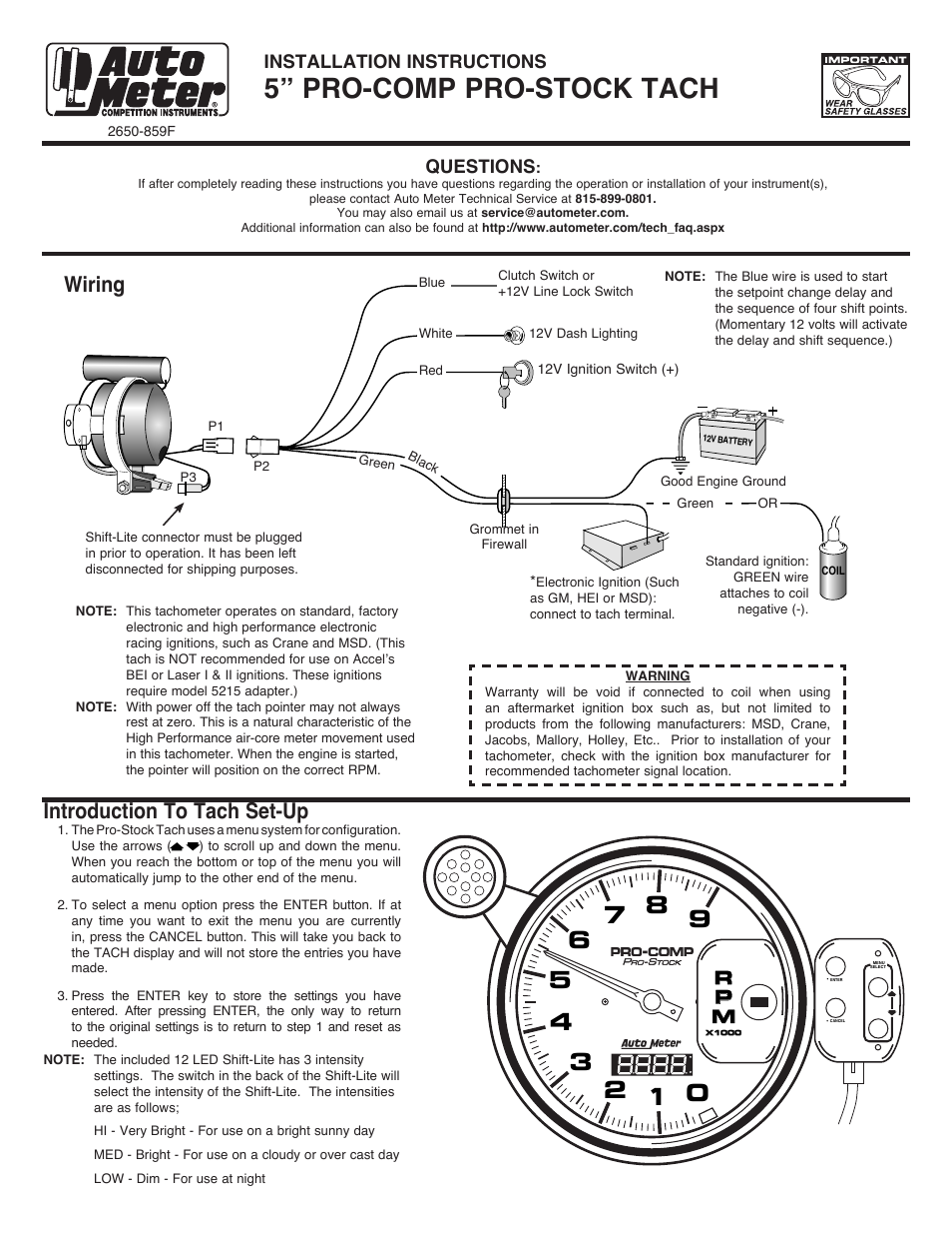 Autometer Sport Comp 2 Wiring Diagram