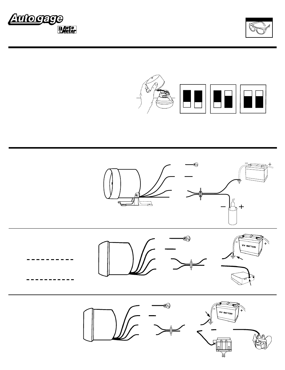 auto meter wiring diagram auto meter 2304 user manual 2 pages also for 2301  2303  2300 autometer amp gauge wiring diagram auto meter 2304 user manual 2 pages