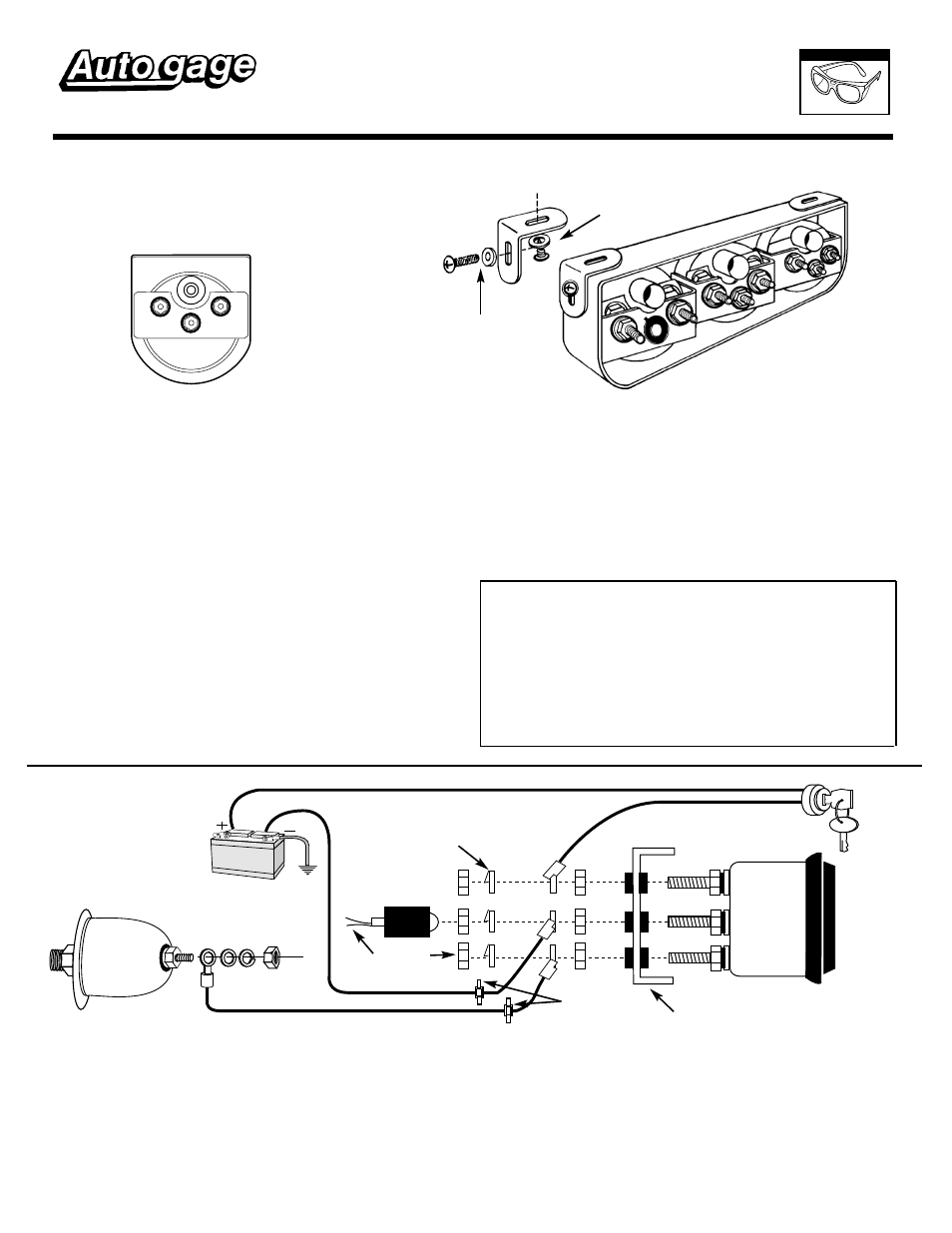 Auto Meter 2391 User Manual 2 Pages Also For 2356 2355 2354 Autometer Gauge Wiring Instructions
