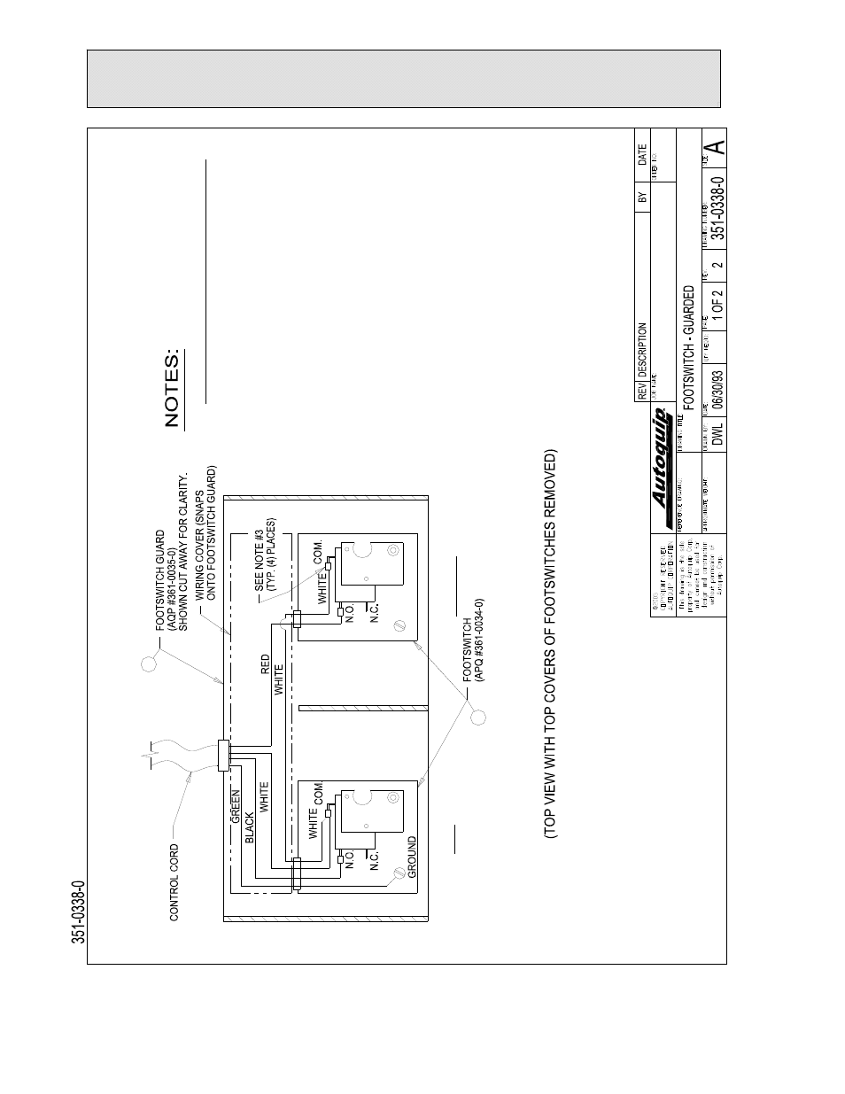 General Maintenance  Figure 8a  Footswitch Wiring Diagram