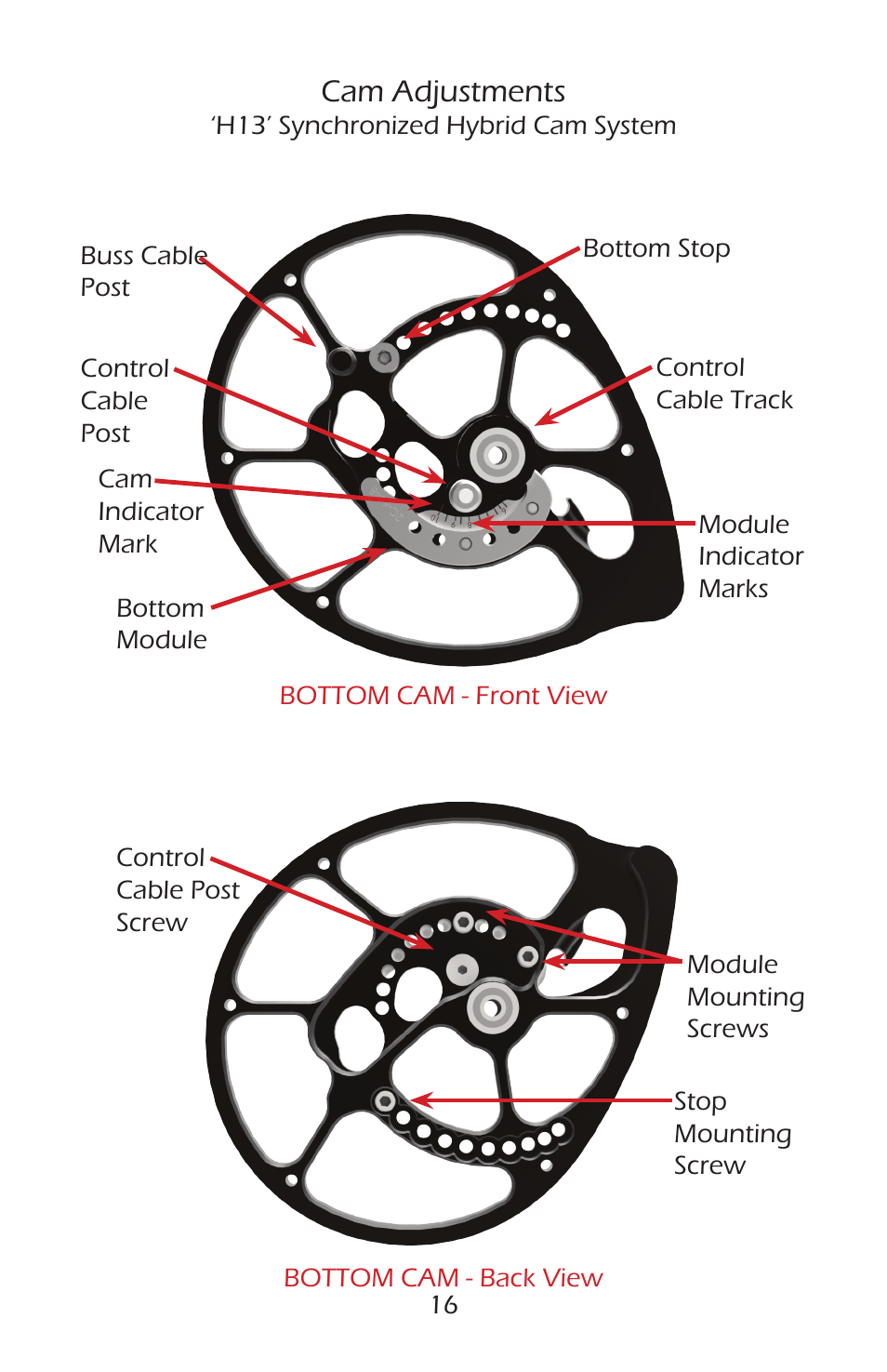 Cam adjustments   Bear Archery Compound Bow 2014 User Manual   Page