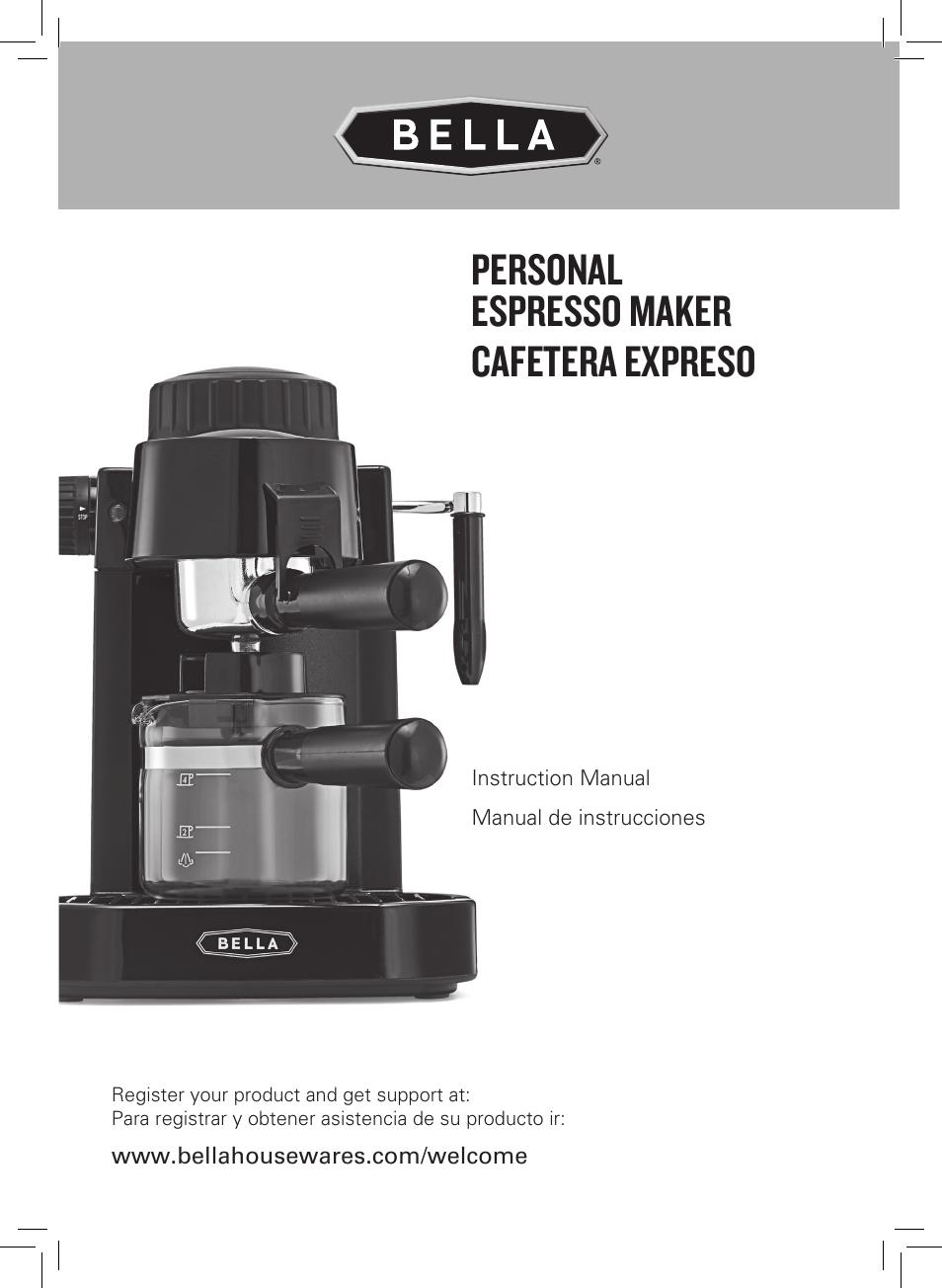 bella 13683 espresso maker user manual