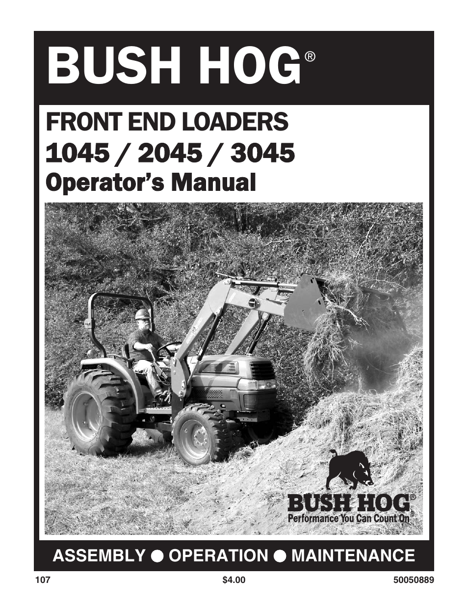 Bush Hog 3045 User Manual | 45 pages | Also for: 1045