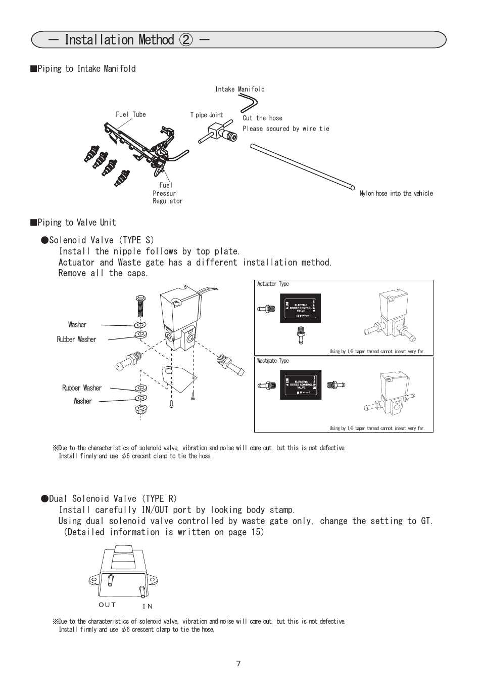 7 Installation Method Blitz Sbc Type S R 15 Solenoid Wiring Diagram User Manual Page 8 18