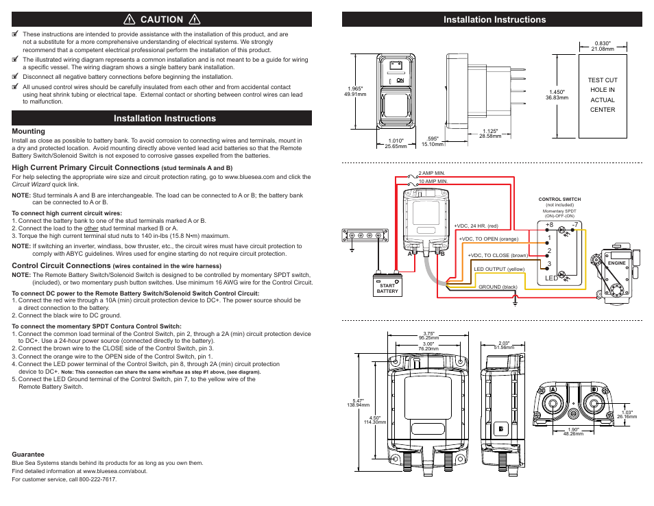 Starter Solenoid Switch Manual Guide