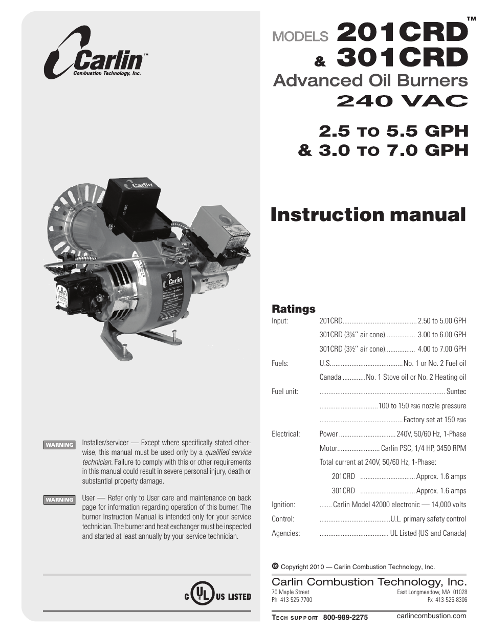 Carlin 301crd User Manual 28 Pages Also For 201crd border=