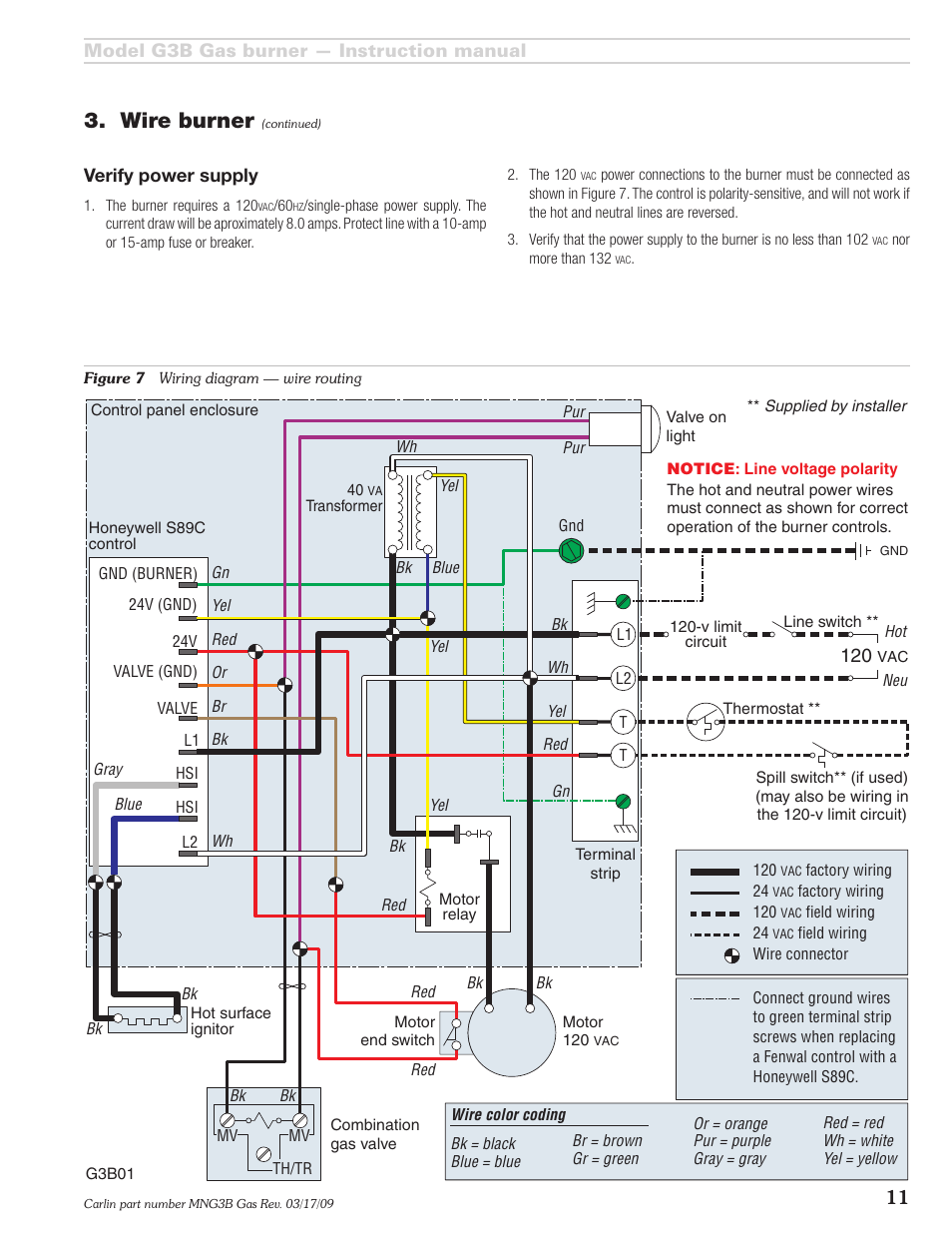 wire burner | carlin g3b user manual | page 11 / 24 on dc motor control