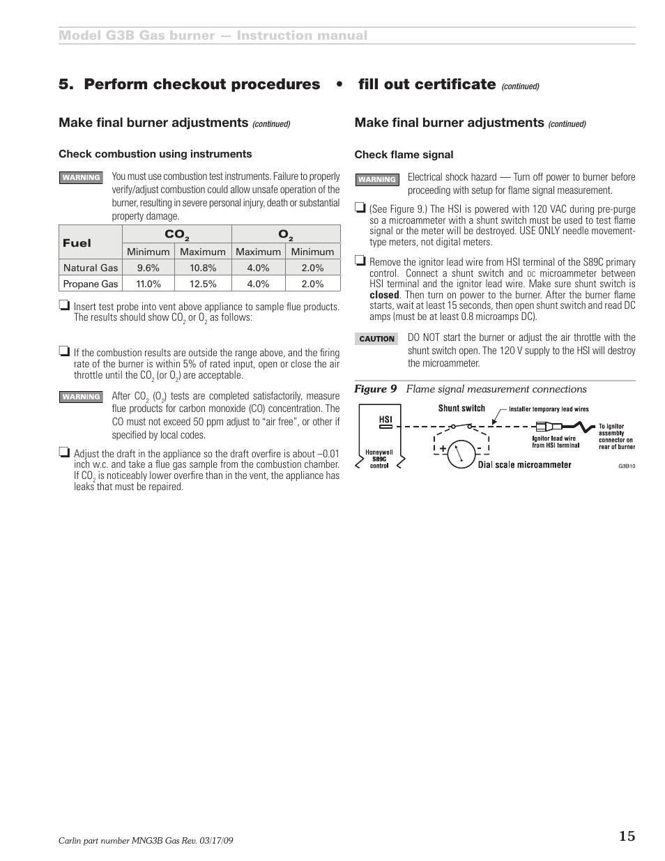 model g3b gas burner instruction manual 15 make fi nal burner rh manualsdir com Operators Manual Instruction Manual Book