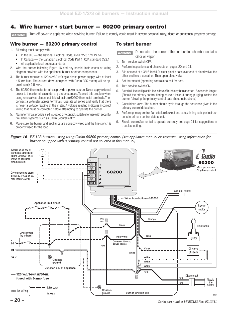 Carlin EZ123 User Manual   Page 20  28