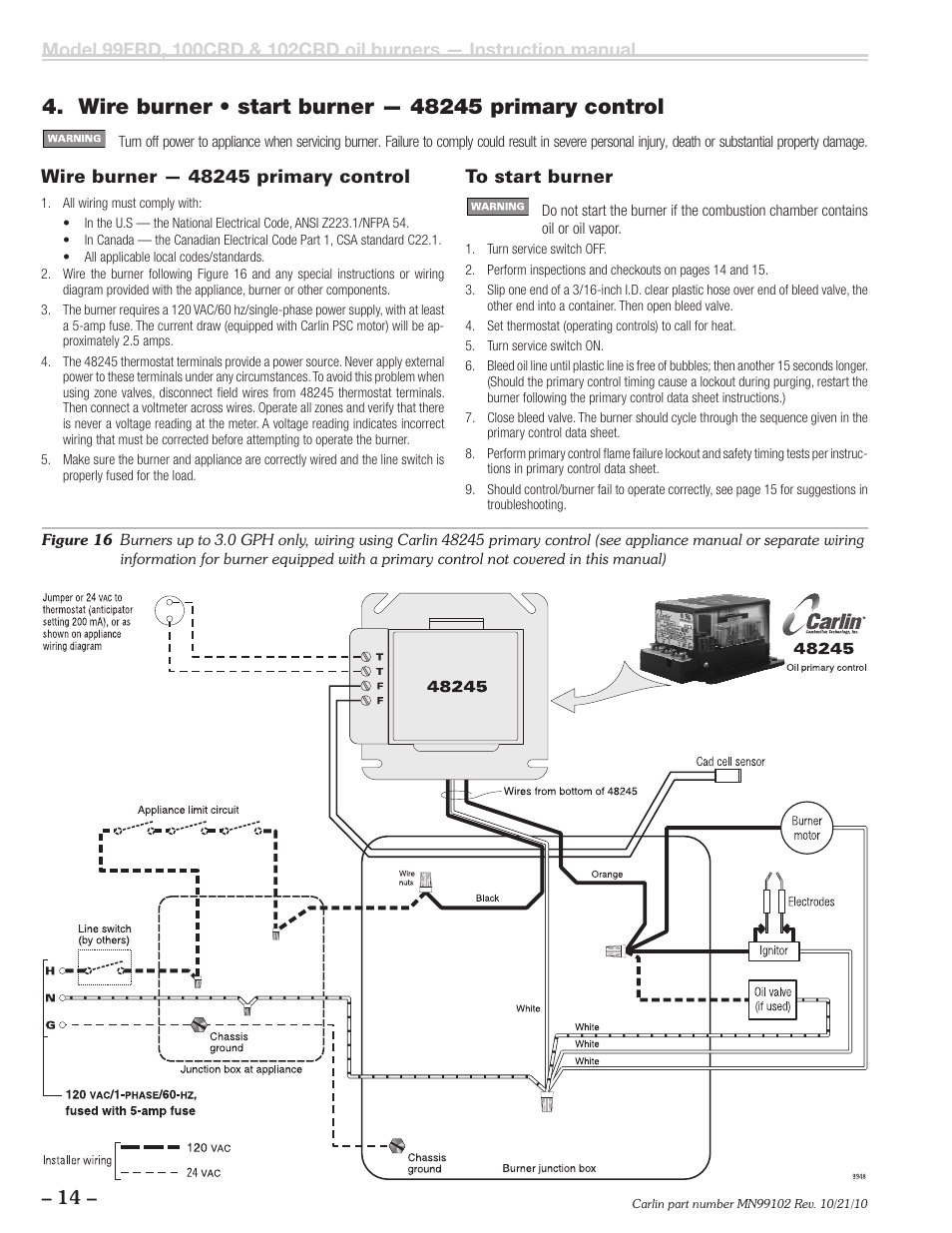 Carlin 102CRD-99FRD-100CRD User Manual | Page 14 / 28 on