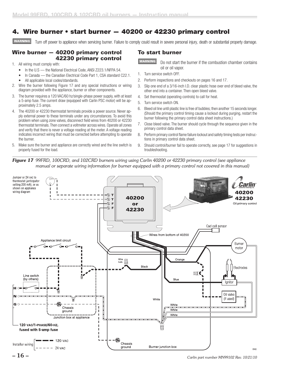 Carlin 102CRD99FRD100CRD User Manual   Page 16  28