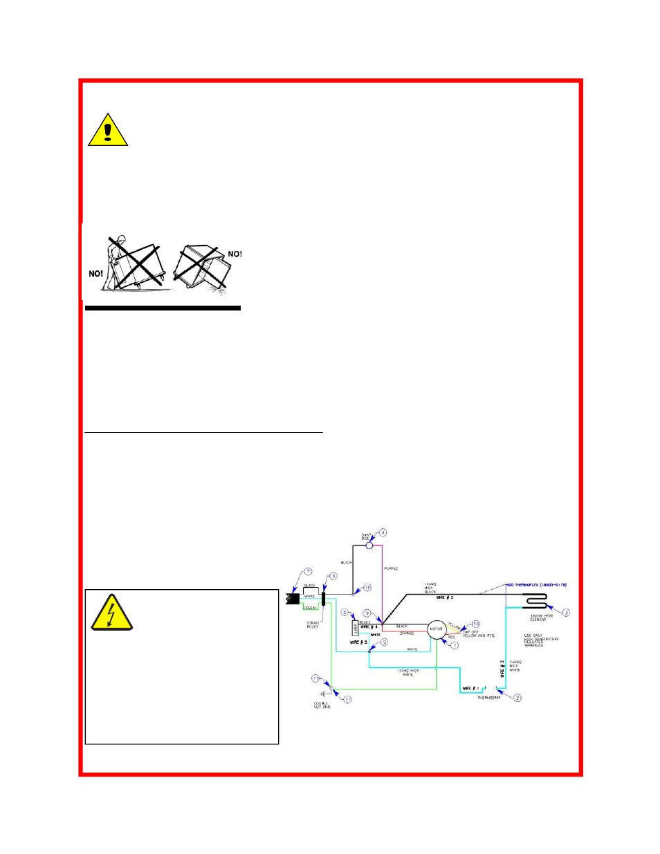 Maintenance  Caution  Replacement Parts  U0026 Wiring Diagrams