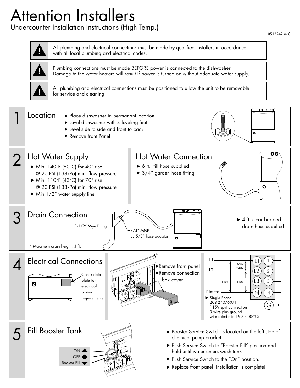 Champion Ul 130 Installation Instructions User Manual 2 Pages