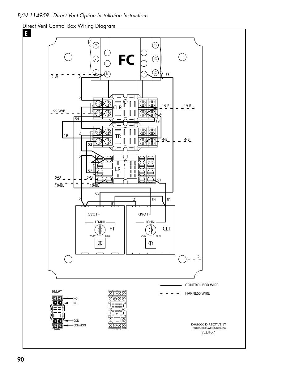 Latch Relay Base  Ft Clt Lr Tr  Direct Vent Control Box