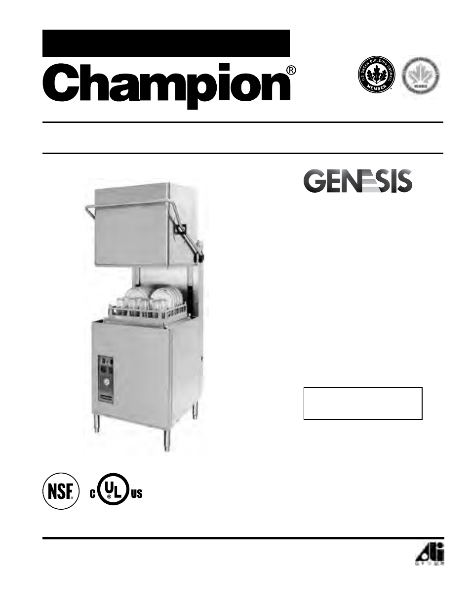 CHAMPION DH5000 Single Source Gas Door Machine Manual User Manual | 122  pages
